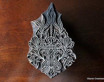 Indian wood stamp, pottery stamp, Fabric print stamp, Tjaps, Block Stamps- Floral Design