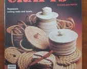 Vintage Crafts Magazine Encyclopedia of Crafts Ropework Needlepoint Musical Instruments Tongue and Groove Air Brush Painting Caning Weaving
