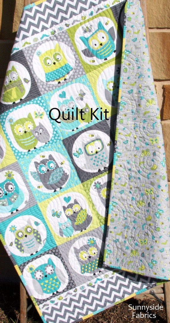 Last Three Owl Quilt Kit Boy Whoo Loves You Northcott Michele