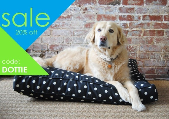 Dot Dog Bed - washable dog bed - high end dog beds - small to large
