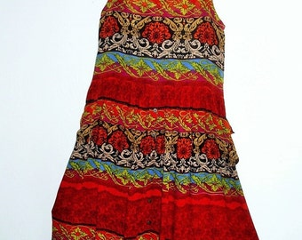 Tribal print Cotton Maxi Dress/ Medium / Large
