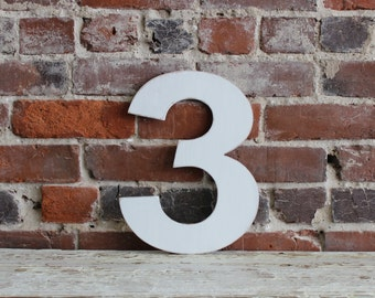 "12"" Wooden Number 3, Oversize Number, All Numbers, Many Colors Available, Birthdays, Party Decoration, Baby Gift, Baby Photo Prop,"