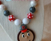 Ohio State Buckeyes Chunky Necklace - Inspired by Brutus Buckeye
