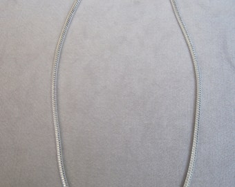 "Fantastic 4mm Round Silver Snake Chain Choice of 20""-22""-24"" Lengths"