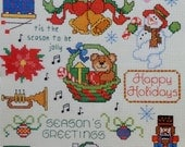 Counted Cross Stitch Pattern CHRISTMAS CABOODLE Leisure Arts Mini Series #4 One Nighters