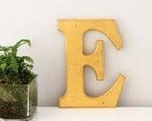 Vintage Shopfront letter E, gold leaf