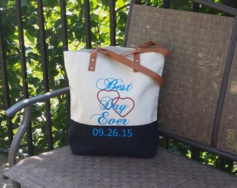 Future Sister In Law Gift, Best Day Ever Tote With Date, Gift For Daughter Getting Married