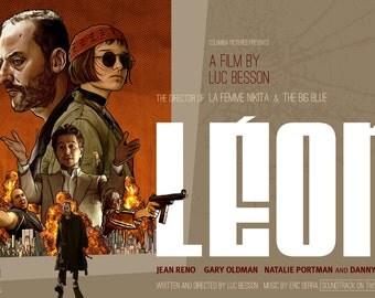 "Leon - The Professional - Fan Art - Movie Poster Pastiche 17 x 11"" Digital Print"