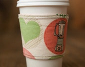 Reversible Coffee/Tea Cozy Sleeve, Thermally Insulated - Retro Kitchen