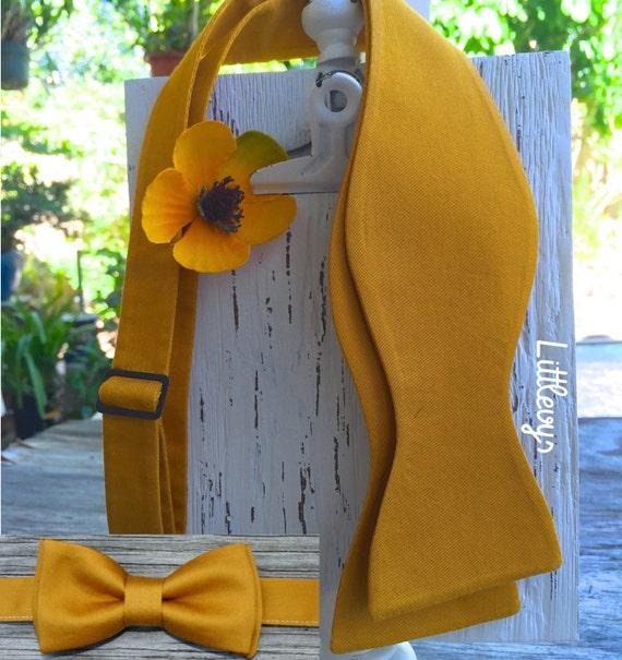 mens bow tie, gold bow tie, gold bowtie, gold bowties, ties for groom, ties for men, self tie bow tie, mustard yellow