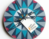 SALE Matching set of 4 Kaleido Tablemats - Turquoise Triangles *Online Exclusive!*