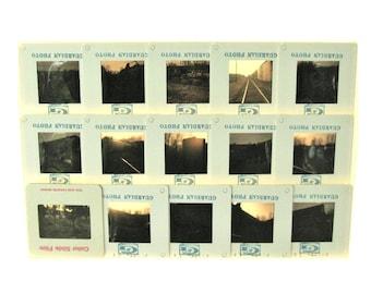 Train Derailment Photo Slide Lot Vintage Chessie 1975 Kodak Instamatic Photography Slides