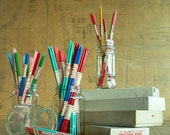 1950s Vintage Double Point Knitting Needles, Set of 4 Needles. Shepherds Needles in Various Sizes & Candy Colours. NOS