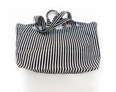 Large Tote Bag. Large Beach Bag. Large Bag. Market Bag. Striped Bag. Beach Bag Tote