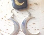 crescent moon earrings