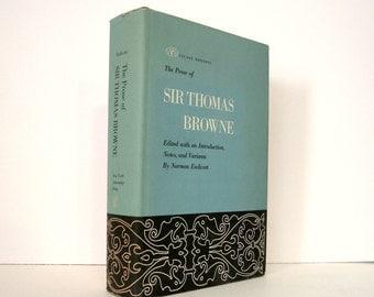 Prose of Sir Thomas Browne, Religio Medici, Hydriotaphia, Pseudodoxia Epidemica, Christian Morals, Hydriotaphia Urn Burial, Vintage Book