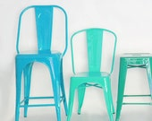 """Custom Tolix Style High Back Stool in 26"""" or 30"""" Height:  Painted in the Color of Your Choice"""