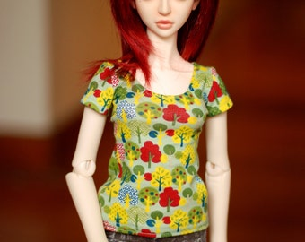 SD Green And Yellow Tree T Shirt For BJD