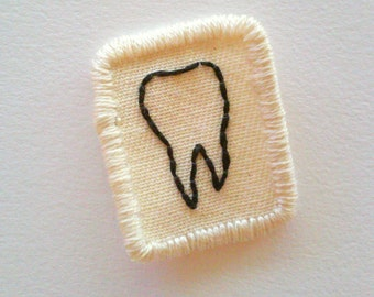 The Littlest Tooth Embroidered Patch Sew On Patch Weird Oddity