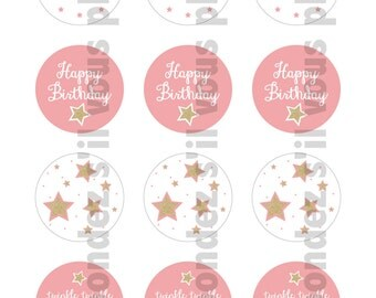 Twinkle Twinkle Little Star Cupcake Toppers - DIY