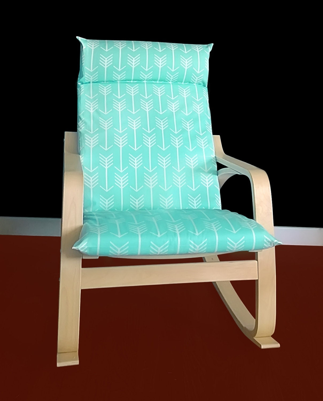 arrow print ikea po ng cushion slipcover mint ikea poang. Black Bedroom Furniture Sets. Home Design Ideas