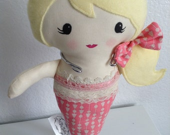 Little Mermaid Doll/plush toy/softie doll/custom mermaid