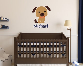 Puppy Room Decal Etsy - Custom vinyl wall decals dogs