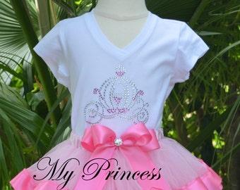 Ribbon Tutu Set, Princes Tutu Dress, Pink Ribbon Tutu Dress, Birthday Princess Outfit, Ribbon Tutu Skirt, Pink Ribbon Tutus, Princess Dress