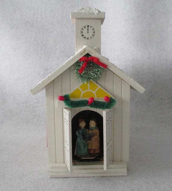 Music Box Church Christmas Decoration Holiday Decor