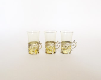 ORNATE Shot Glasses with Holders, use for home decor
