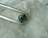 RESERVED: Genuine Montana Sapphire Bright Green Square Brilliant cut 1.07 carat Loose Gemstone for Engagement, Jewelry