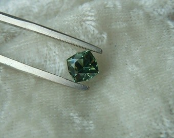 RESERVED: Payment Plan for Genuine Montana Sapphire Bright Green Square Brilliant cut 1.07 carat Loose Gemstone for Engagement, Jewelry