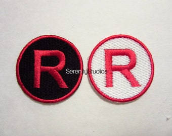 Team Rocket Red or White Iron on Patch