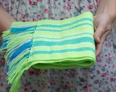 handwoven wrap neon merino wool scarf for baby READY TO SHIP! Baby Scarf
