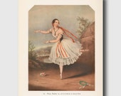 """Ballerina Wall Art (Vintage Ballet Print Decor, Antique Ballerina Picture Gifts) --- """"The Devil to Pay"""" No. 14"""