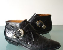 Durango mens black leather side zip western boots - Unique Beatle Boots Related Items Etsy
