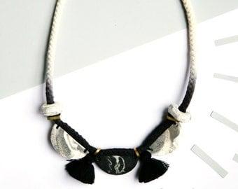 Black Ombre Stone Necklace