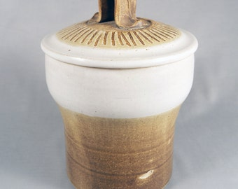 Early Charles Halling, Vintage Studio Pottery, Lidded Canister, 1975