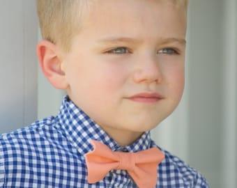 Orange bow tie, tangerine bow tie, clementine bow tie, ring bearer bow tie, boys orange bow tie, toddler bow tie, men's bow tie, Creamsicle