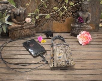 Phone Charger Vintage Textile Bag