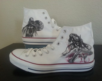 Xmen Wolverine Origins and Darth Vader Star Wars themed shoes ARTWORK and SHOES INCLUDED