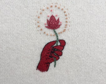 Demon Hand Embroidery