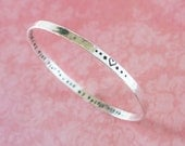 May my heart be kind my mind fierce and my spirit brave, heart inspirational silver quote bangle bracelet, stamped quote bangle zenned out