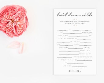Wedding vow mad libs etsy for Vow writing template