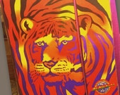 Vintage Lisa Frank Tiger Stuart Hall Trapper Keeper Folders Notepad 1980's 1990's