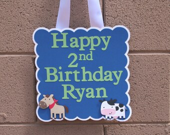 Farm/ Barnyard animal Birthday SIgn