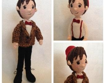Eleventh Doctor Who Amigurumi doll Crochet Pattern