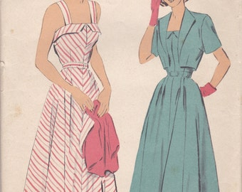 Sweet 1950s Sun Dress & Bolero Pattern Advance 4904 Size 16