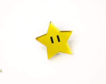 Super Mario Star Pin - Laser Cut