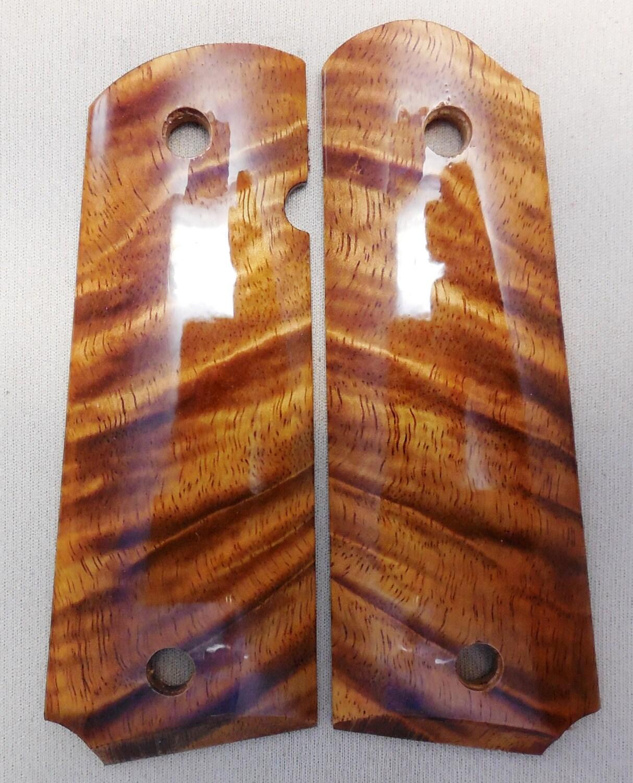 1911 Custom Made Pistol Grips Beautiful Hawaiian Curly Koa